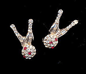 2 Bowling Pins with Balls Crystal Pins (Image1)
