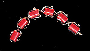 Vintage Red Thermoset Bracelet