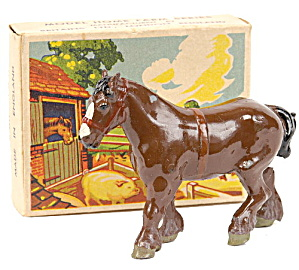 1930s Britains 5001 Shire Horse In Box