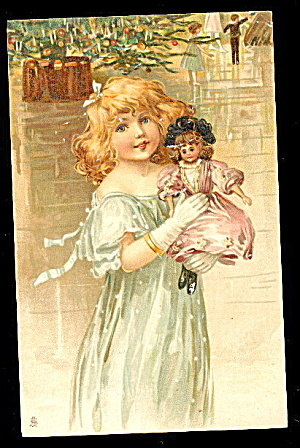 Frances Brundage Girl With Doll Tucks 1908 Postcard