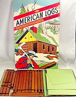 1950 Hal-sam Toy Company 'american Logs' Set