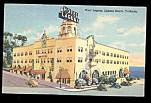 1948 Laguna Beach, CA, Hotel Laguna Postcard (Image1)