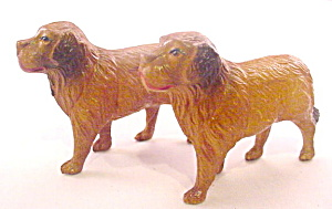 2 Ca 1920s Viscaloid/celluloid Dogs