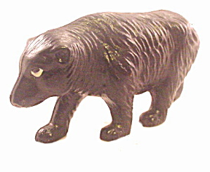 Ca 1920s Viscaloid Celluloid Black Bear Animal Toy