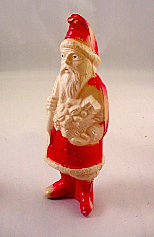 1920s Celluloid Santa Claus with Bag & Toys (Image1)