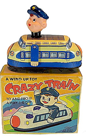1950s Japan Windup Yone Crazy Train In Box