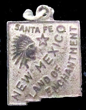 "Vintage Sterling Silver ""new Mexico"" Charm"