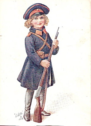 1907 Tucks Military Girl 'For the Cause..' Postcard (Image1)