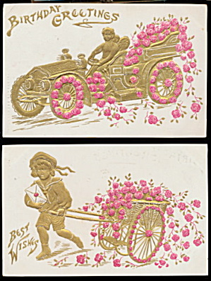 2 1905 German Children Best Wishes Postcards (Image1)