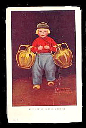 1908 Bernhardt Wall 'Little Water Carrier' Postcard (Image1)