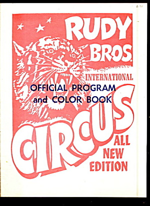 1972 Rudy Bros Circus Program & Coloring Book