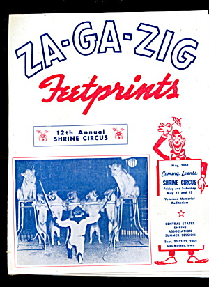 1962 Za-ga-zig 12 Annual Shrine Circus Program