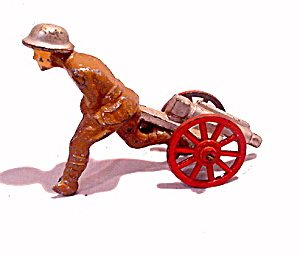 (M123) Manoil Soldier Running With Cannon