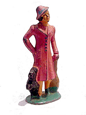 (B157) Barclay Railway - Woman With Terrier Dog