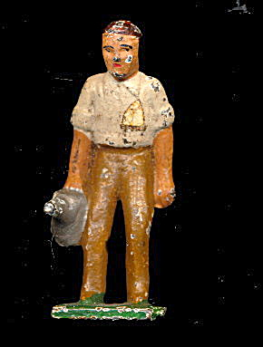 (H-1) Grey Iron American Family Man with Watering Can (Image1)