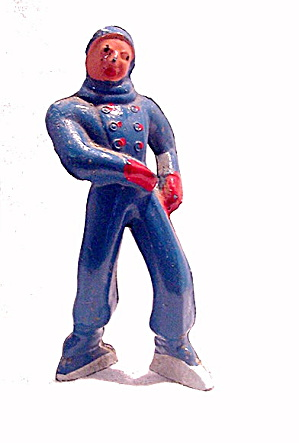 (B176) Barclay Boy Figure Skater In Blue