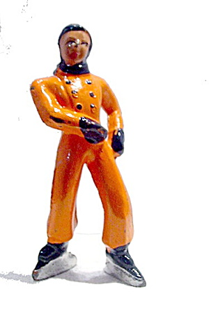 (B176) Barclay Boy Figure Skater In All Orange