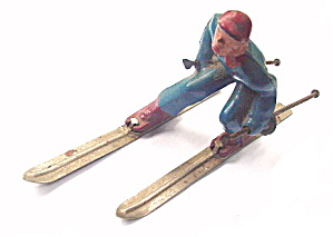 (B190) Barclay Man On Skis In Blue