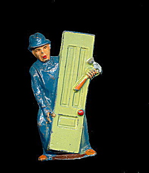 (M151) Manoil Happy Farm Carpenter W Door Figure #2