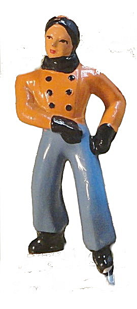 (B176) Barclay Boy Figure Skater In Orange
