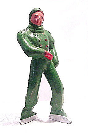 (B176) Barclay Boy Figure Skater In Green