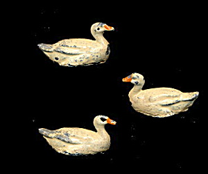 3 1920s/1930s German Or English Lead Ducks