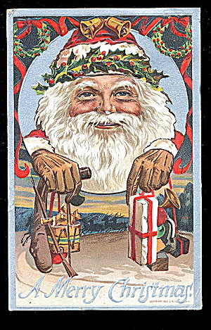 Bien Santa Claus With Presents 1910 Postcard