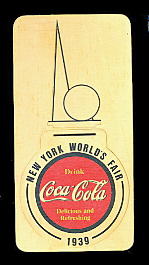 1939 World's Fair Coca Cola Unpunched Coaster