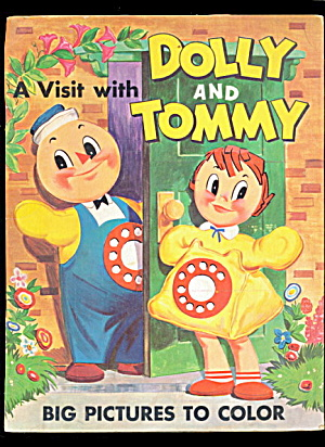 1940s-1950s Illinois Bell 'dolly & Tommy' Coloring Book