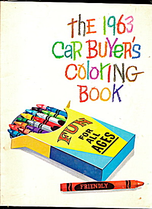 1963 Ford Mercury Car Coloring Book - Never Colored In