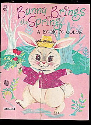 1950s 'bunny Brings Spring' Coloring Book