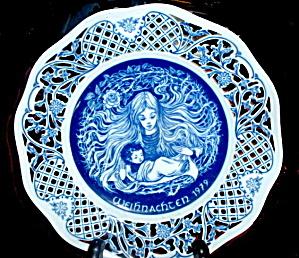 1st Ed Weihnachten Collector Plate Marianne Stuwe (Image1)