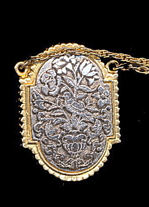 1960s Max Factor Locket On Chain