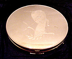 "Art Deco Girl 3 3/4"" Elgin American Compact"
