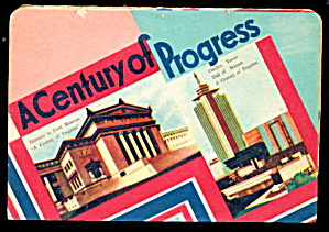1933-1934 Fair Century Of Progress Needle Book