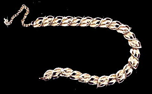 "Lovely Goldtone Leaf Coro 17"" Necklace (Image1)"
