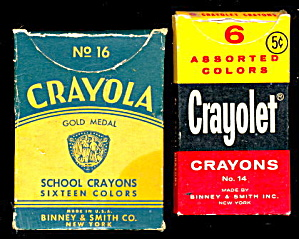 2 1940s Packs of Crayons Including Crayola (Image1)