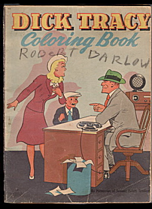 1946 Dick Tracy Coloring Book