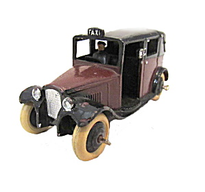 1930s Dinky Toys 36g Taxi With Driver Open Rear Window