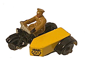 1940s Dinky Toys #44b Aa Motorcycle/sidecar