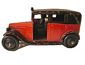 1930s Dinky 36g Taxi With Driver In Red