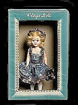 Virga Doll Hard Plastic 1950s Ice Skating Queen (Image1)