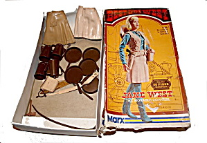 1960s Cowgirl Marx Jane West Doll & Accessories in Box (Image1)