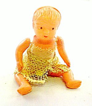 "Lovely ca 1930s 2 1/2"" Celluloid Souvenir Doll (Image1)"