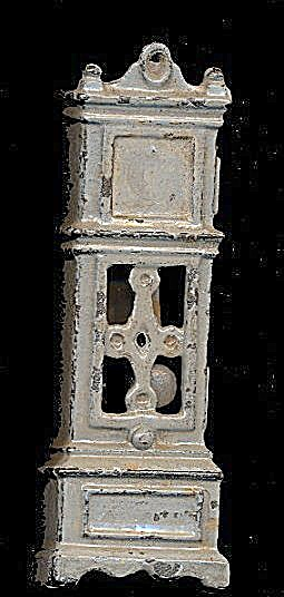 Ca 1920s Kilgore Cast Iron Dollhouse Grandfather Clock (Image1)