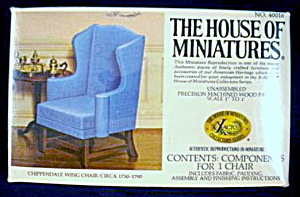 House of Miniatures Chippendale Wing Chair  (Image1)