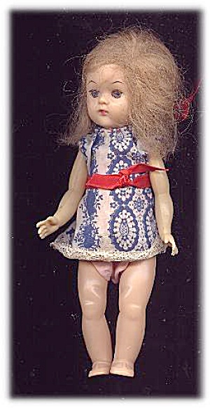 "1950s Unmarked Ginny Wannabe 8"" Walker Doll"
