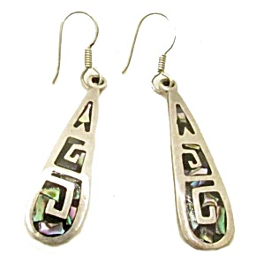 Vintage Mexico Dangle Th-109 Sterling Silver Earrings