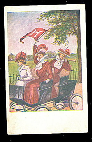 F Earl Christy 1908 Harvard College Girls Postcard