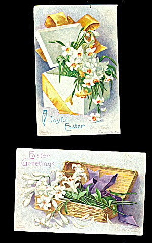 2 International Arts Clapsaddle 1908 Easter Postcards
